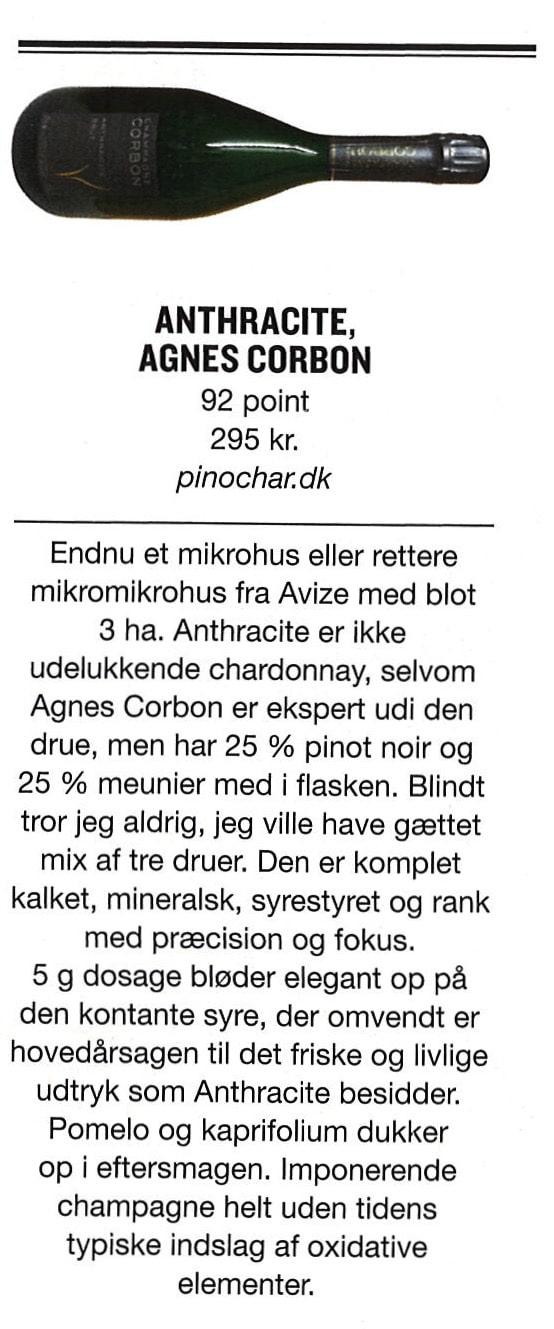 Gastro anmeldelse af Corbon Anthracite NV