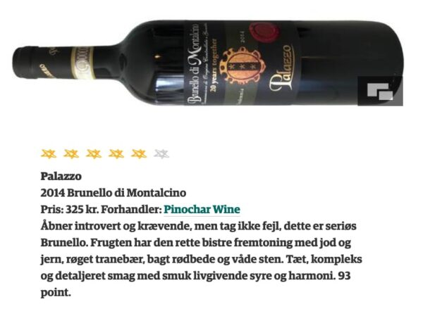 Jyllands-Postens test af Brunello 2014