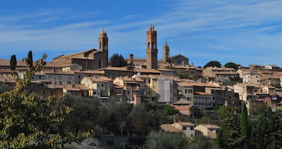 Byen Montalcino i Toscana